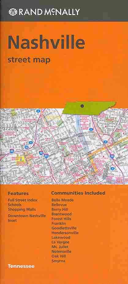 Rand Mcnally Nashville, Tn Street Map By Rand McNally and Company (COR)